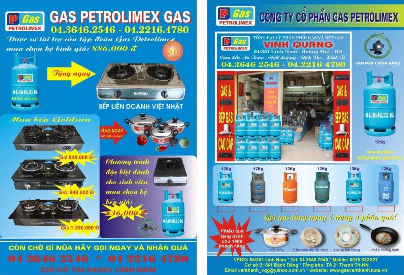 Mẫu tờ rơi quảng cáo ga Petrolimex