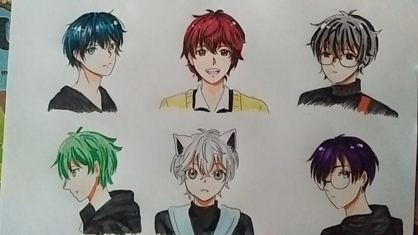 Những hình vẽ anime nam cute