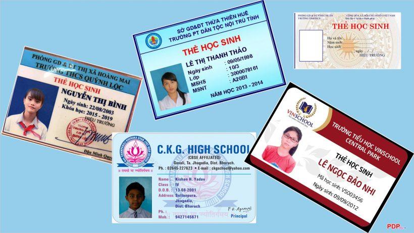 Những mẫu ảnh thẻ học sinh đẹp nhất