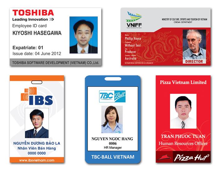 Những mẫu thẻ nhân viên
