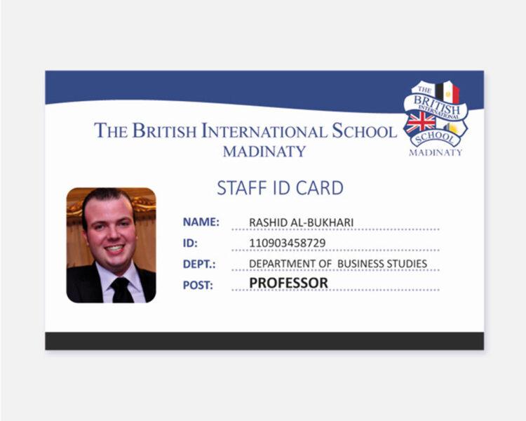 Thẻ nhân viên đẹp bằng tiếng Anh