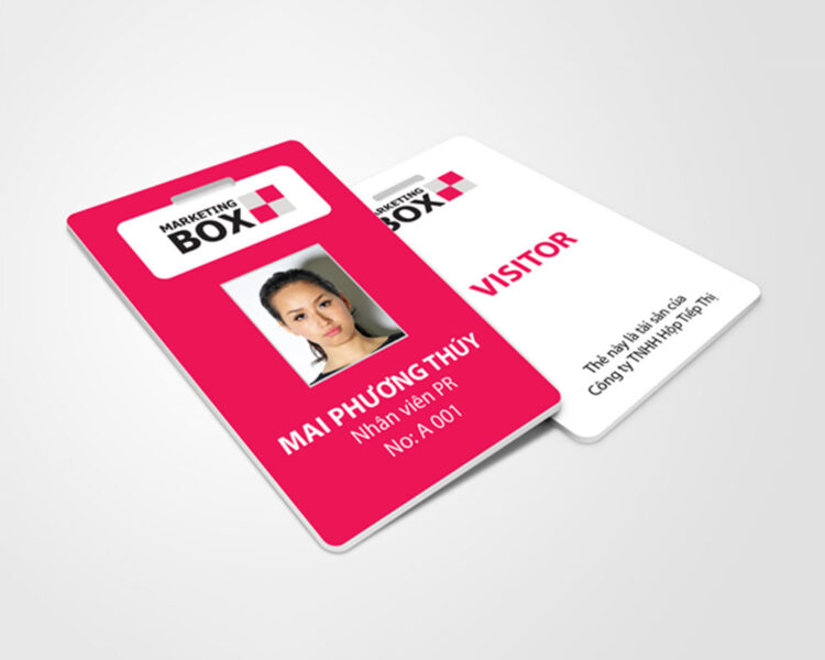 Thẻ nhân viên hộp tiếp thị