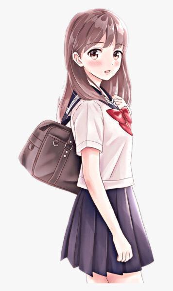 Tranh vẽ anime nữ dễ thương