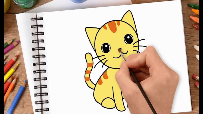 Tranh vẽ con mèo