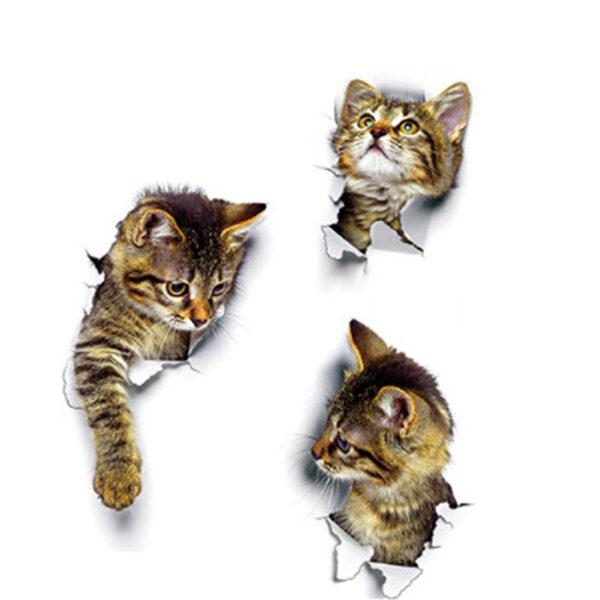 Tranh vẽ mèo 3D cực đẹp