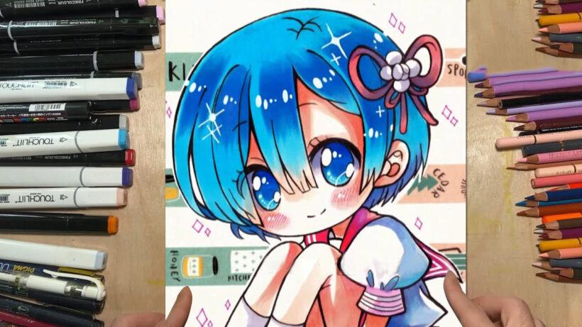 vẽ anime cute dễ thương