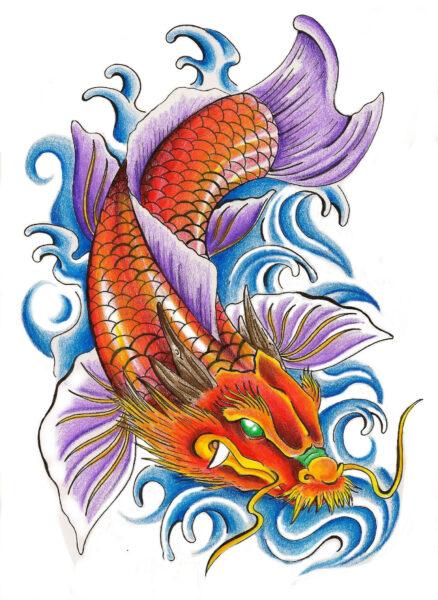 Vẽ Cá Chép hoá Rồng
