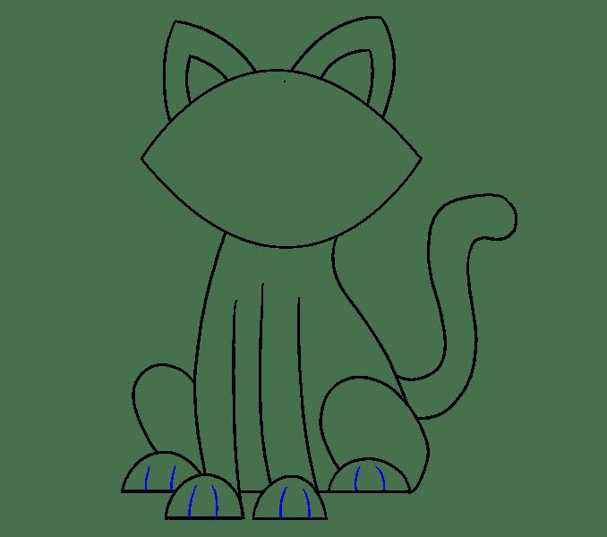 Vẽ miệng và mũi mèo
