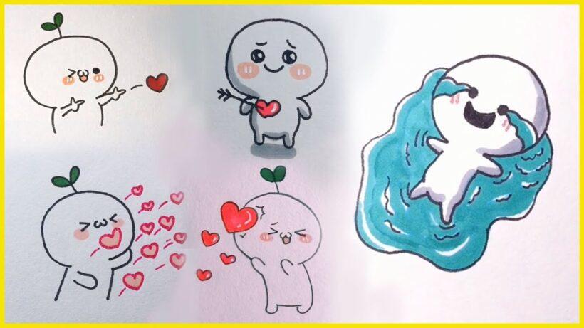 vẽ đơn giản cute