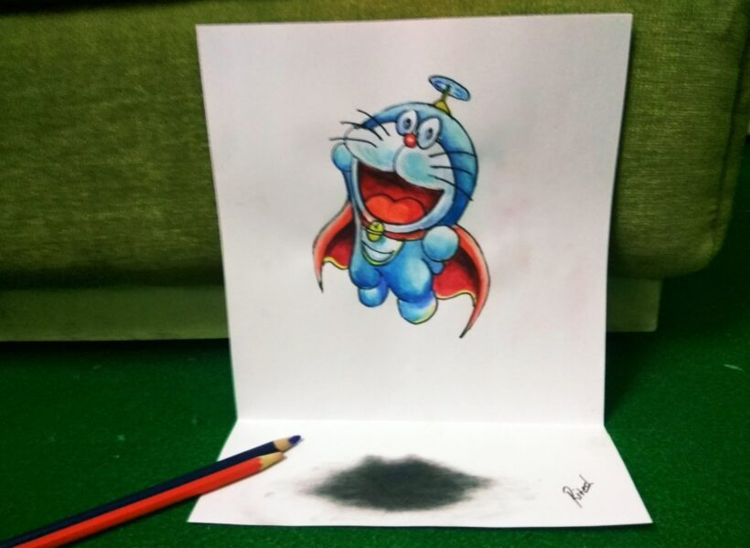 vẽ Doremon 3D