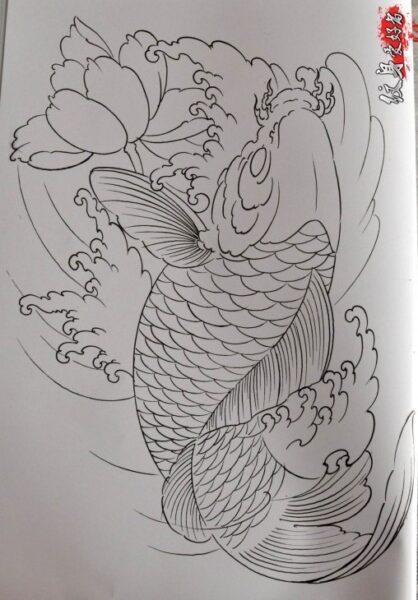 Vẽ hình xăm cá Chép