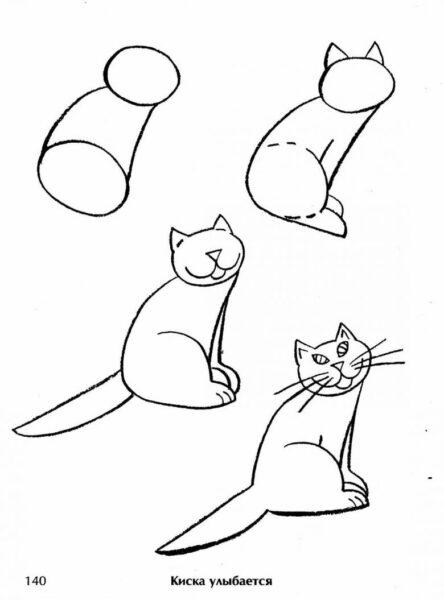 vẽ mèo đơn giản