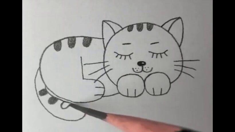 vẽ mèo siêu đơn giản