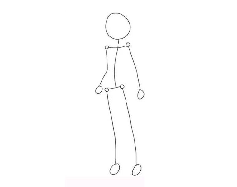 Vẽ phác hoạ toàn thân dạng que