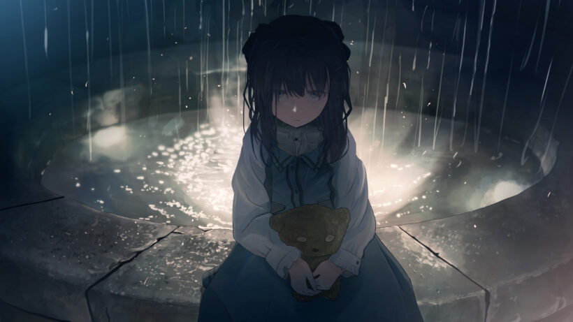 background anime buồn cô đơn