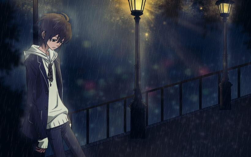 background buồn, cô đơn dưới đêm
