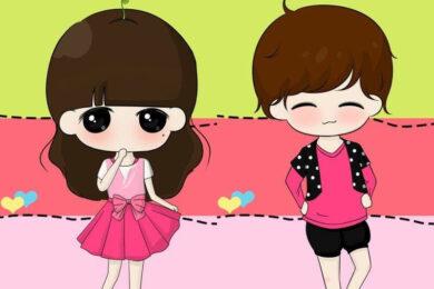 hình ảnh avatar cặp đôi chibi dễ thương