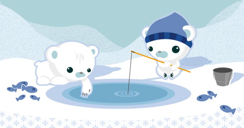 Hình ảnh con gấu hình nền gấu đang câu cá