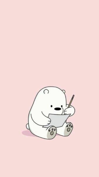 Hình ảnh con gấu hình nền gấu học bài