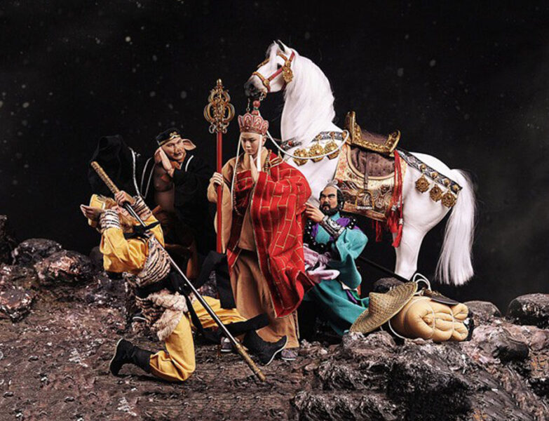Hình ảnh Đường Tăng lo lắng cho Tôn Ngộ Không lúc gặp nạn