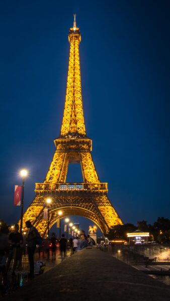 Hình ảnh tháp Eiffel đêm đẹp