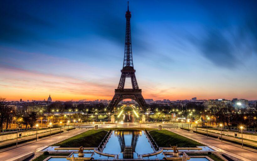 Hình ảnh tháp Eiffel về đêm đẹp