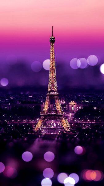 Hình nền tháp Eiffel đẹp kỳ ảo