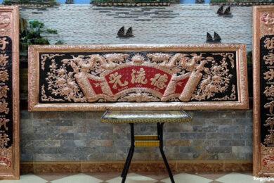 Những mẫu hoành phi câu đối gỗ, đồng đẹp cho bàn thờ gia tiên