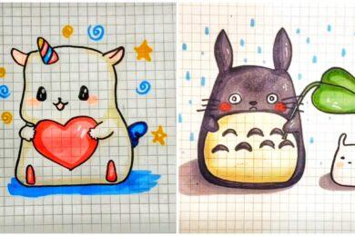 Vẽ tranh dễ thương, siêu cute