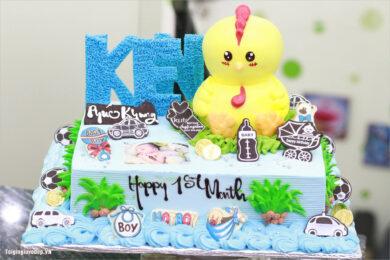 Hình ảnh bánh sinh nhật con gà cho người tuổi Dậu ngộ nghĩnh, đẹp nhất