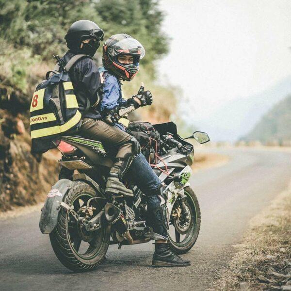 hình ảnh đi phượt bằng xe máy cùng người thương