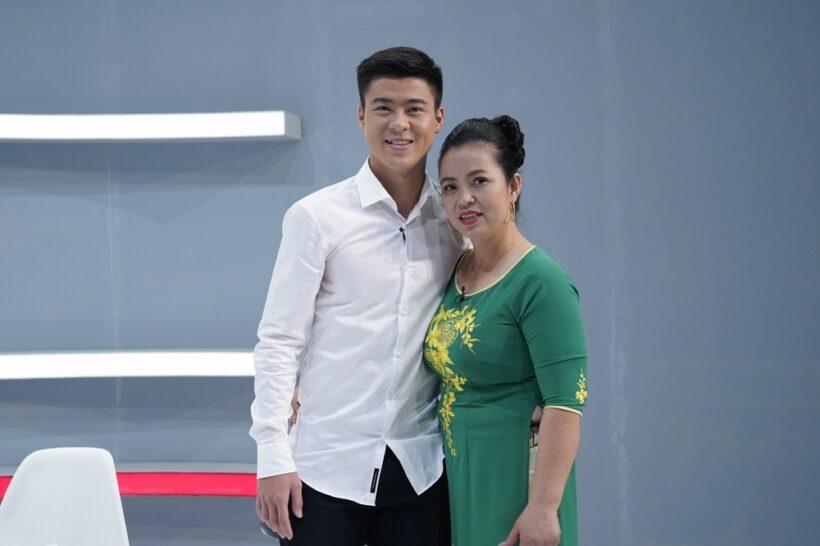 hình ảnh Duy Mạnh và mẹ