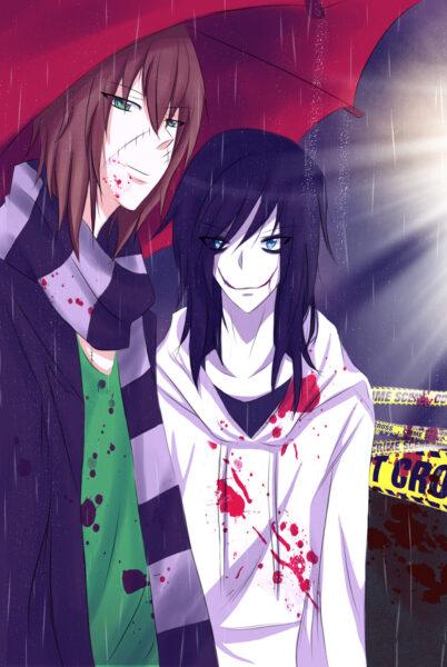 Hình ảnh Jeff the killer và Leu