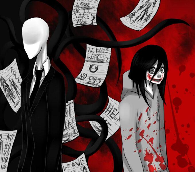 Hình ảnh Jeff the killer và Slender man