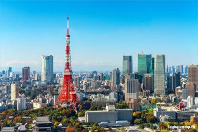 Hình ảnh tháp Tokyo Nhật Bản đẹp nhất