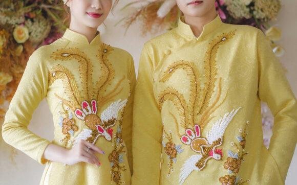 Top mẫu áo dài cưới hot, hiện đại và đẹp nhất dành cho cô dâu chú rể