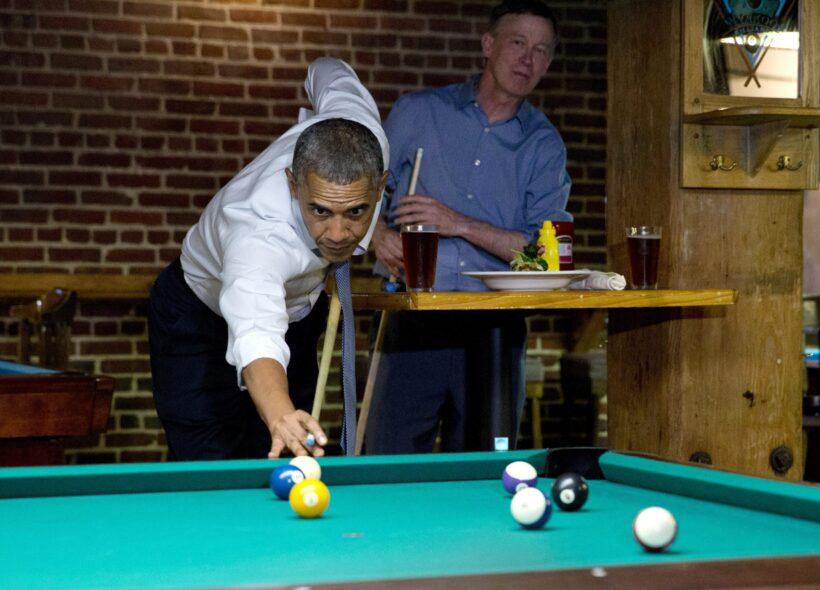 hình ảnh bida ấn tượng của tổng thống Obama