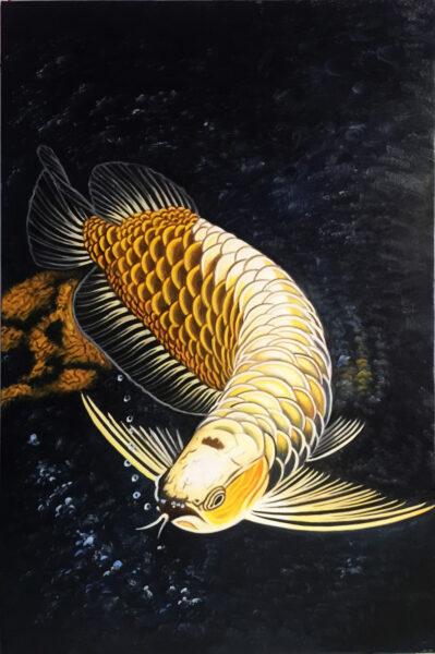 hình ảnh cá Rồng bằng tranh chân thực