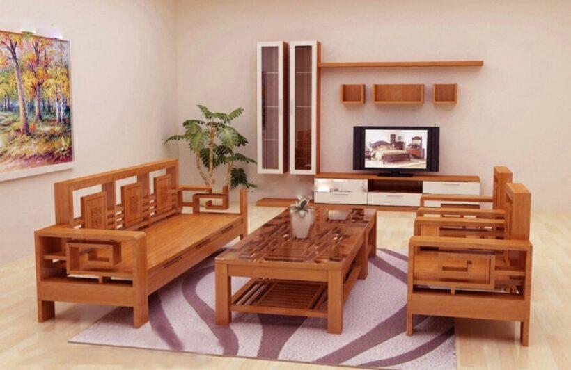 hình ảnh ghế sofa gỗ