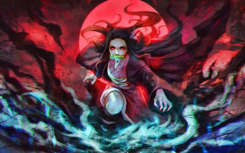 hình ảnh Nezuko hóa quỷ đẹp nhất