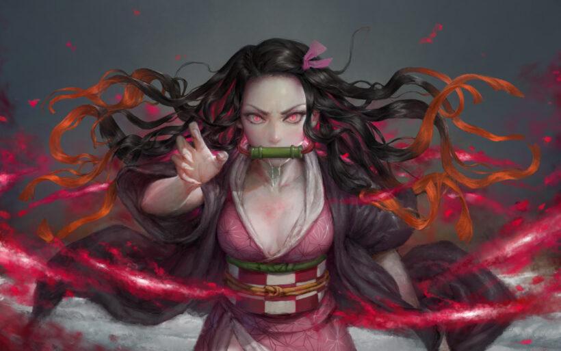 hình ảnh Nezuko ngầu, hóa quỷ ấn tượng